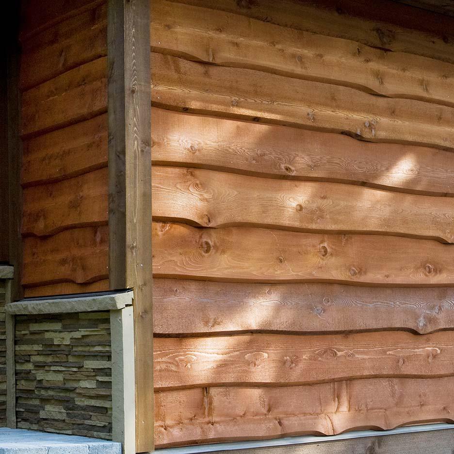 Haida Skirl Wavy Cedar Siding