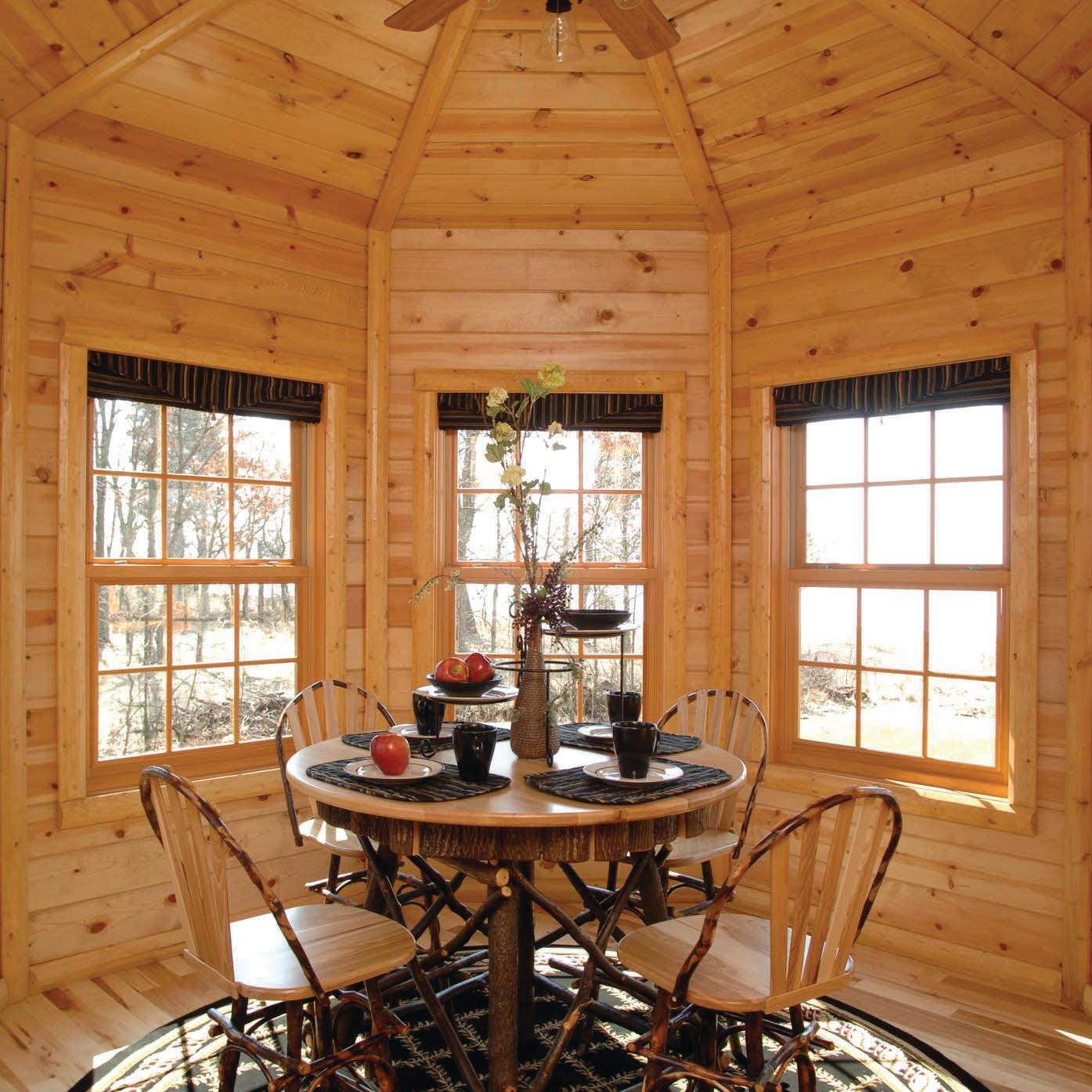 Mountain Lodge Pine Paneling