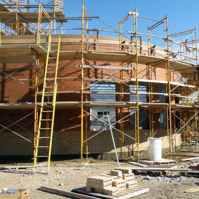 Scaffold in Use