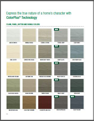 James Hardie Midwest Color options