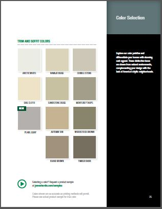 James Hardie Midwest Trim and Soffit Color Options